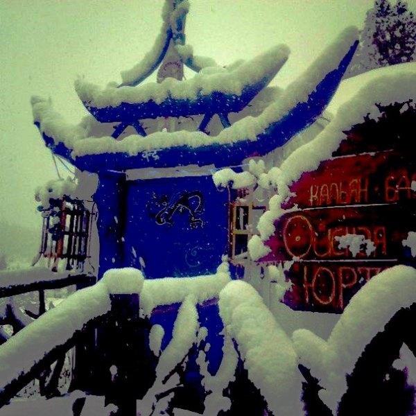 Ергаки в снегу.