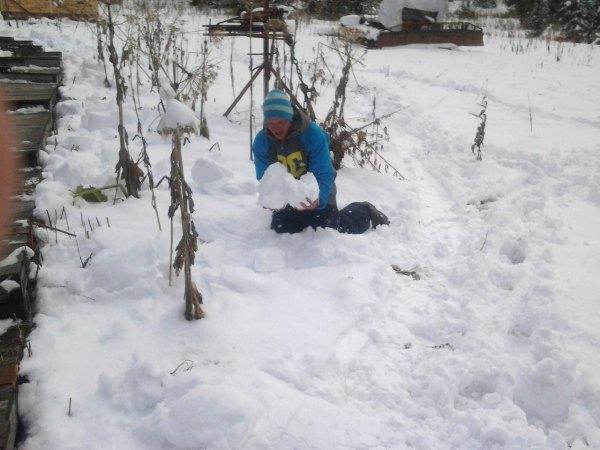Ергаки . Игра в снежки.