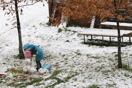 Кемеровская область. Первый снег 2014