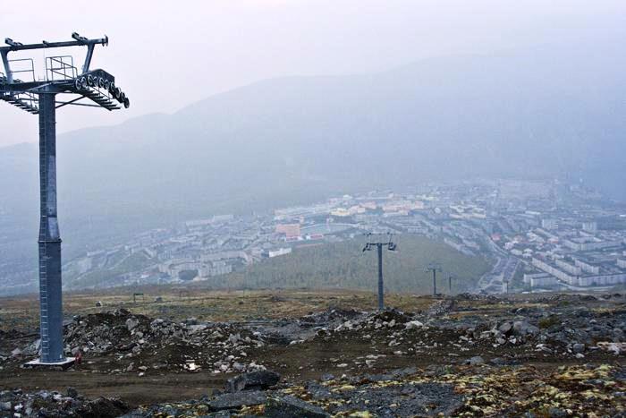 В Кировске установлены опоры новой гондольной дороги