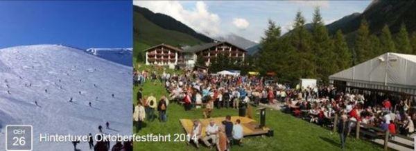 Открытие горнолыжного сезона.Hintertuxer Oktoberfestfahrt 2014