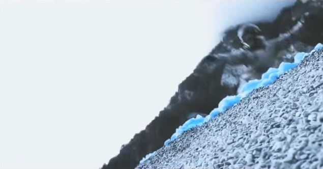 Голубой снег, сноубординг
