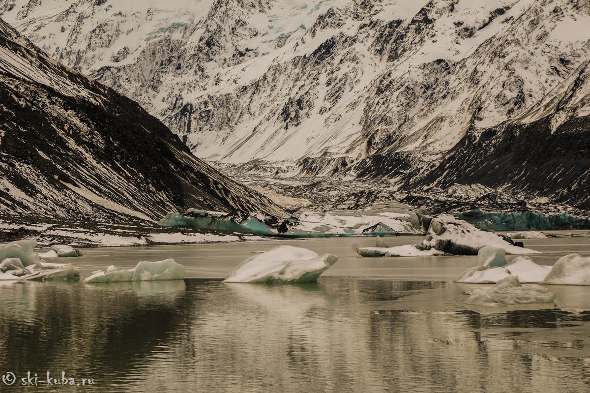Хукер озеро и ледник