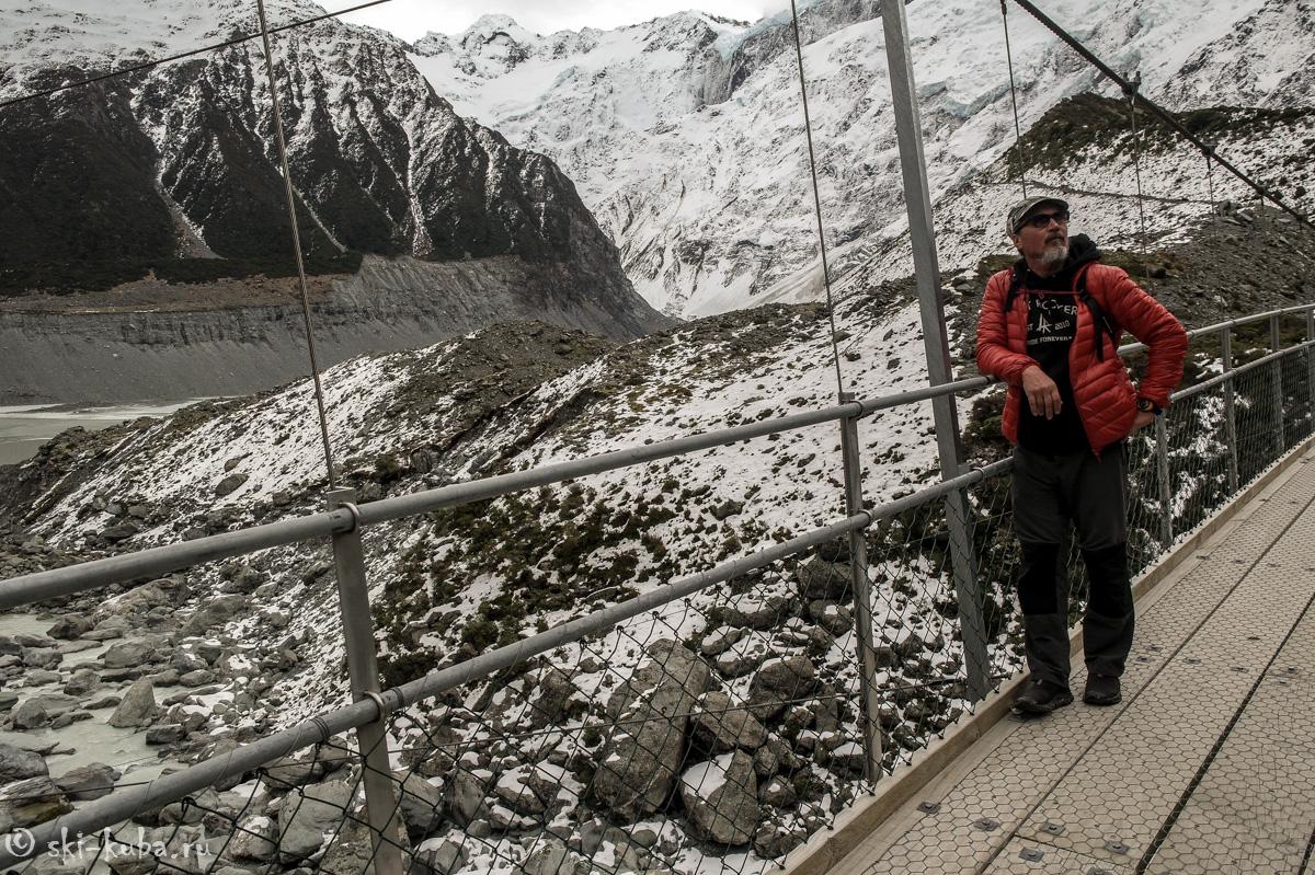 Мост на пути к леднику Хукер