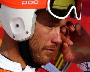 Слезы Боде Миллер после финиша в Сочи 2014