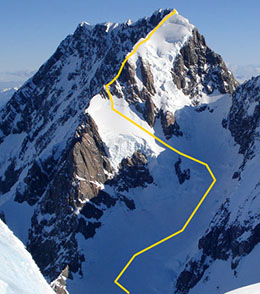 Классический маршрут восхождения на Маунт Кук