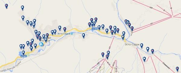 Карта гостиничного фонда Букингком.