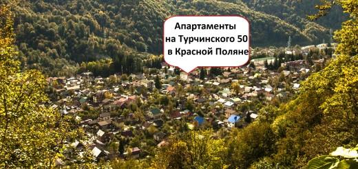 , апартаменты на Турчинского 50 в Красной Поляне,